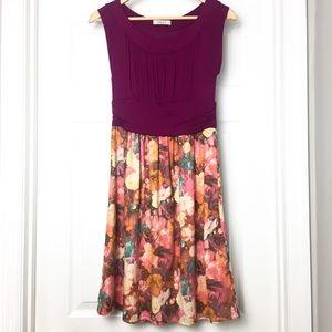 Gilli Pattern Block Fit & Flare Dress